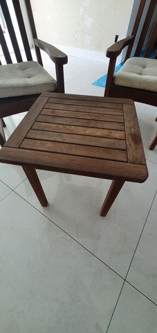 Conjunto Cadeiras e Mesa Madeira Carvalho - Foto 2