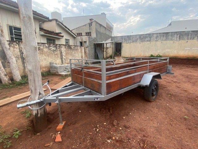 Carreta Reboque 3,00x1,50 - Nova e Documentada e Emplacada 09/2021 - Foto 3