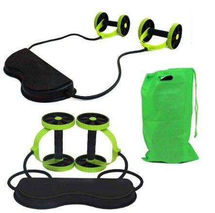 Aparelho para Treino Rodas / Elásticos  40 Exercícios / Musculação Malhar Fitness (A101) - Foto 5