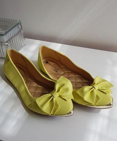 Sapatilha Petit Jolie verde limão - Foto 4
