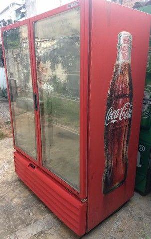 Freezer expositor metalfrio 1022 litros 220V super novo - Foto 4