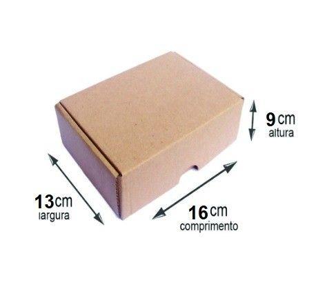 Caixa de papelão e-commerce correios pac 16x13x9 cm