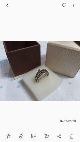 Anel de prata com pedra aro 17 - Foto 2