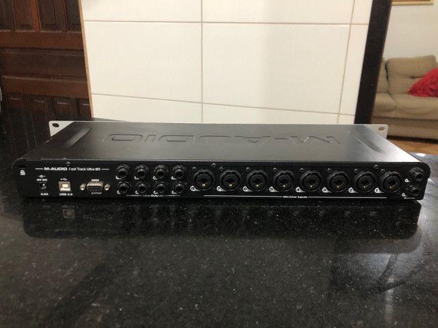Interface de Áudio M-audio Fast Track Ultra 8R  - Foto 2