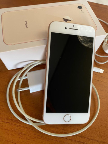 iPhone 8 Gold, impecável . - Foto 2