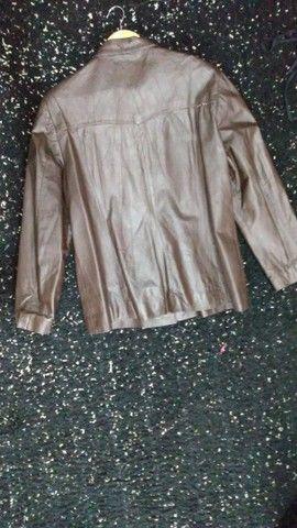 Jaqueta de ouro marrom Tam GG - Foto 4