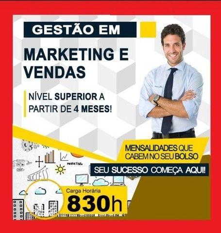 Curso Superior Marketing e Vendas.  EAD. Curta Duração