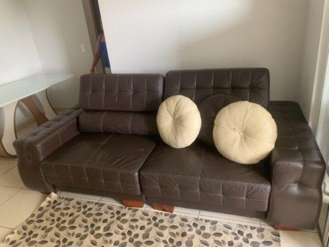 Sofá retrátil de couro natural - Foto 2