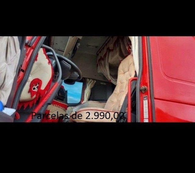 Volvo FH 460 6x2 2015 na Caçamba Rondon Entrada mais Parcelas com Contrato de Serviço. - Foto 4