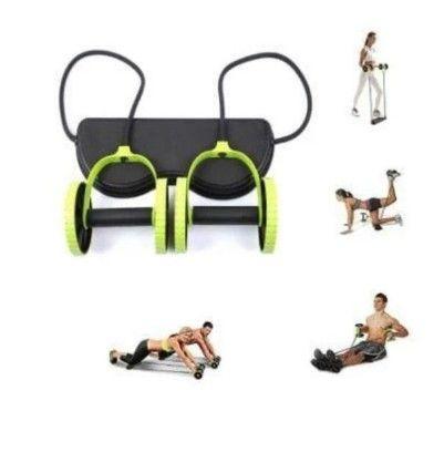 Aparelho para Treino Rodas / Elásticos  40 Exercícios / Musculação Malhar Fitness (A101) - Foto 2