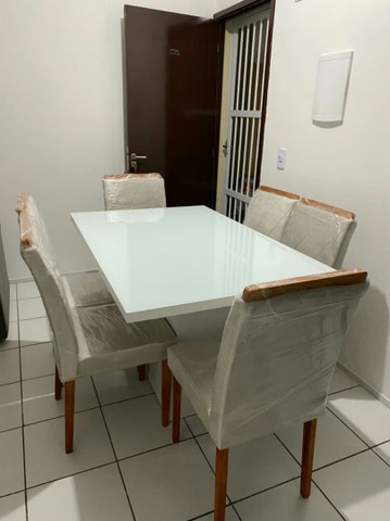 Conjunto LUXUOSOS de mesa e cadeiras diretamente da fábrica ótima QUALIDADE! * - Foto 6