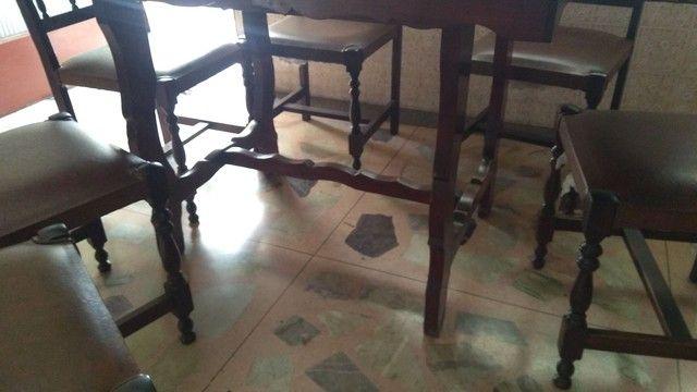 Mesa antiga em madeira nobre - somente a mesa - Foto 4