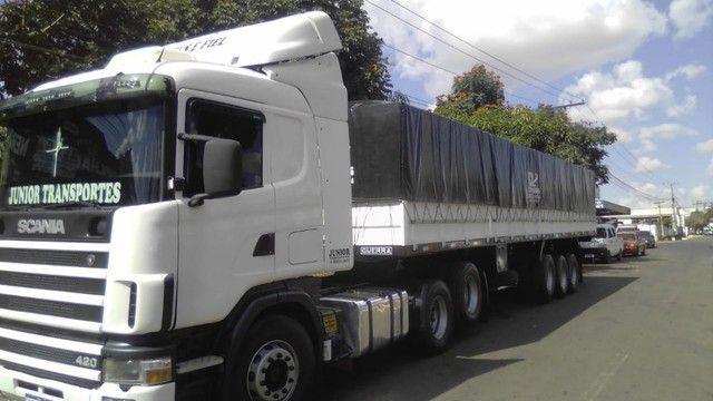 Scania 420 R124 2006 e Carreta Guerra 2001 - Foto 6