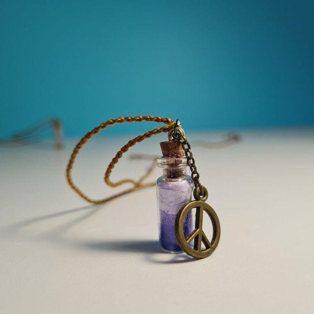 Kit 3 colares hippie artesanais - Foto 3