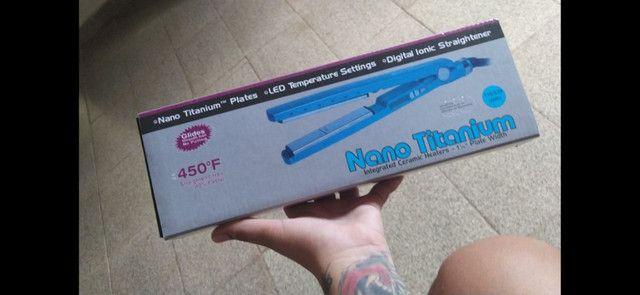 Prancha De Cabelo Babyliss Pro Nano Titanium 2091 Babnt2091tbr Azul 110v (últimas peças)