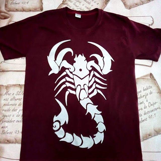 camisa escorpião camiseta escorpião camisas estampadas