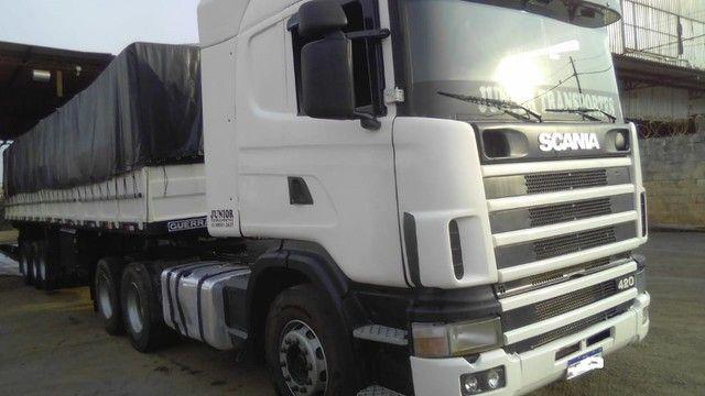 Scania 420 R124 2006 e Carreta Guerra 2001 - Foto 13