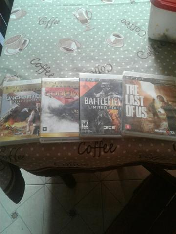 Vendo 4 jogos do ps3 por 100