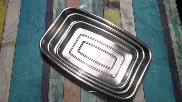 Conjunto de assadeiras em inox Tramontina- 3 peças