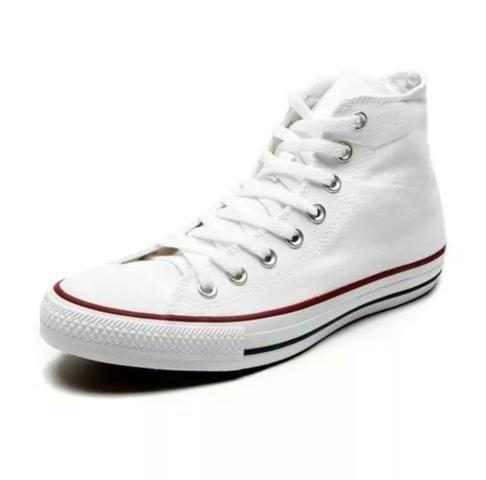 6b7e89a1eb2 Tênis Converse All Star Cano Alto Branco n°38 - Roupas e calçados ...