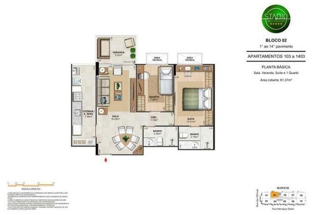 Apartamento de 2 quartos, no Engenho de Dentro, Condomínio Unique Stadio - Foto 9
