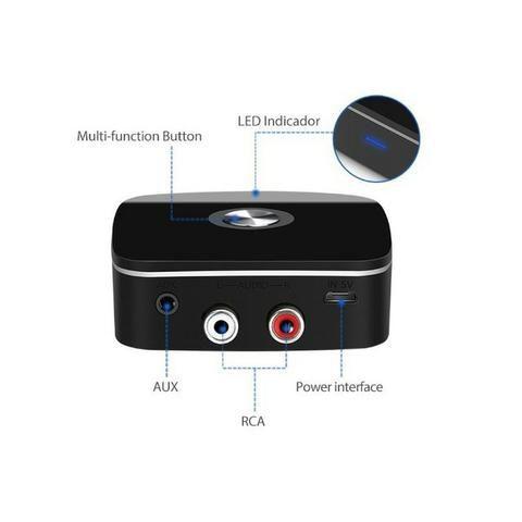 Receptor de Áudio Bluetooth V4.1 40201 It-Blue Rca Auxiliar P2 3.5 Som Smartphone Celular - Foto 4
