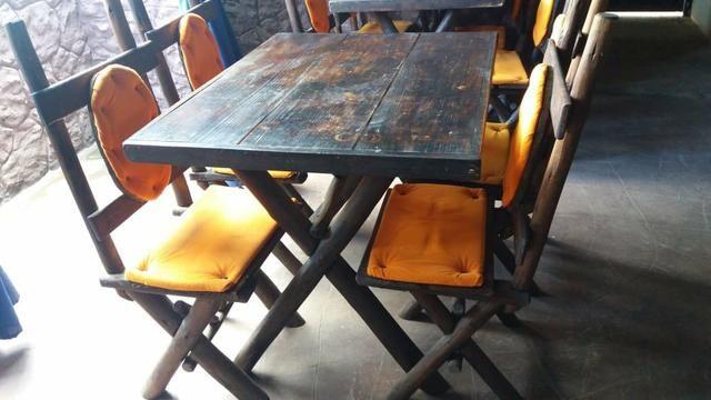 Mesa de madeira 4 lugares - Foto 2