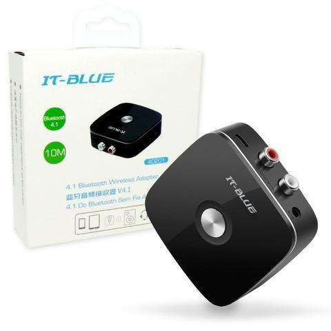 Receptor de Áudio Bluetooth V4.1 40201 It-Blue Rca Auxiliar P2 3.5 Som Smartphone Celular