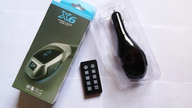 Transmissor FM Para Carro Bluetooth Usb - Foto 3