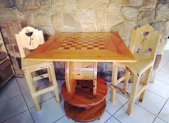 """Mesa """"Jogo de Damas & Xadrez"""" - Foto 3"""