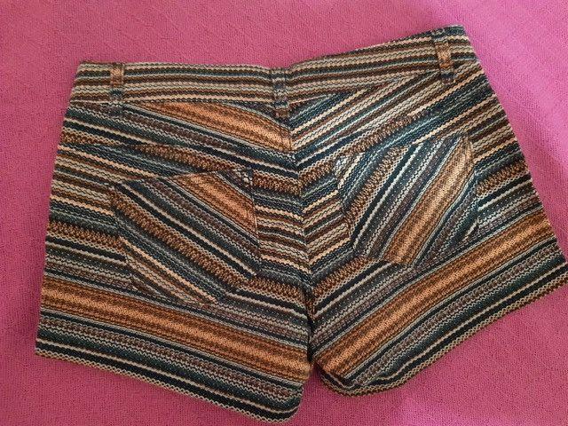 Short jeans com listras étnicas - Foto 3