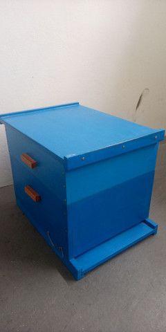 Caixa de abelha ninho e melgueira com quadros. Novos, sem uso. - Foto 4