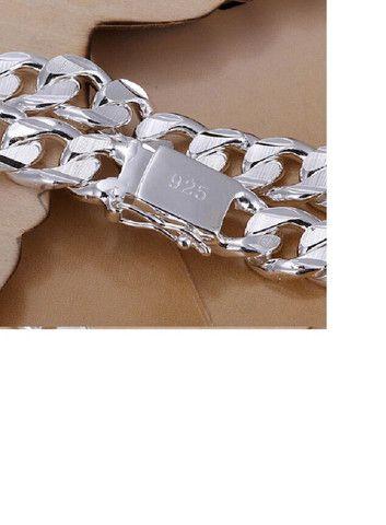 10 Milímetros Homens Pulseira e Corrente 925 de Prata Colares Moda Jóias Acessórios - Foto 2