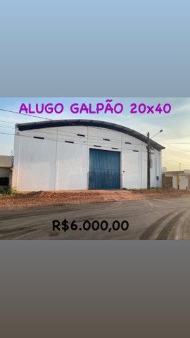 ALUGO GALPÃO 20x40M