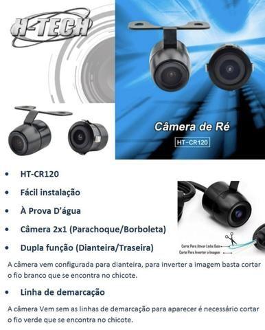 Camera De Ré H-tech Cr110 Dupla Funcao (re/frontal) Qualidad