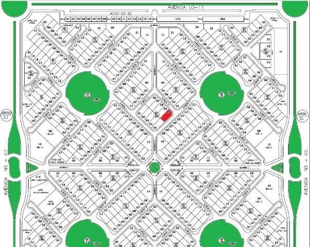 Terreno Residencial - 422m², Esquina - 505 SUL