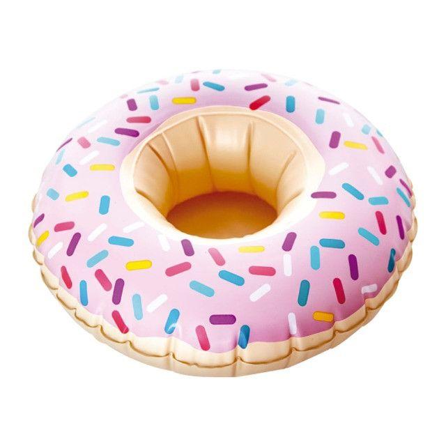 Boia Porta Copos Inflável Donuts - Foto 3