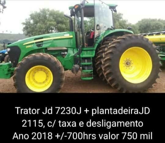 John Deere 7230 + Plantadeira JD 2115 - Ano 2118 - Excelente Estado