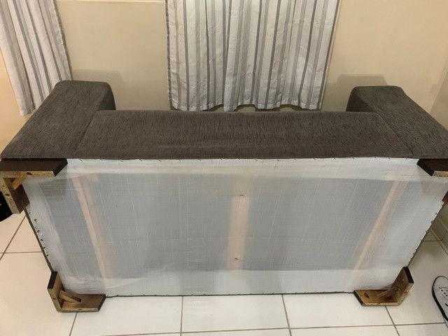 Conjunto de sofá de 2 e 3 lugares. Semi Novos R$ 700,00 - Foto 4