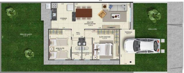 Casas na planta em Condomínio Fechado, de 2 quartos com suíte e porcelanato - Foto 2