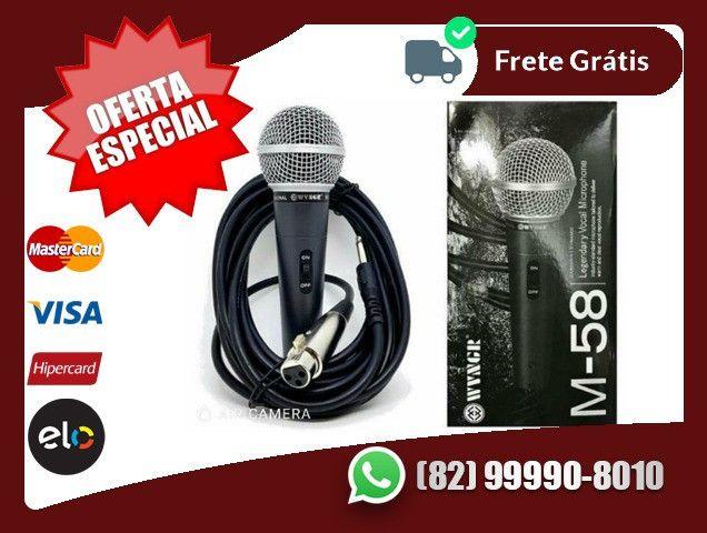 *10-ChmaNoZap>>Microfone Profissional M58 + Cabo