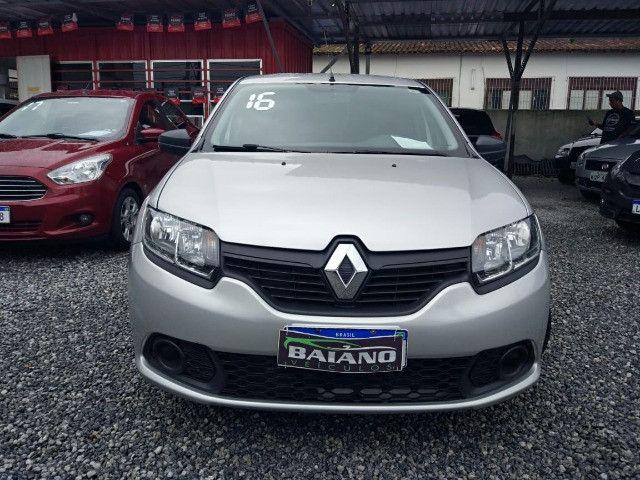 Renault - Sandero Auth 1.0 - 2016 - Flex - Foto 2
