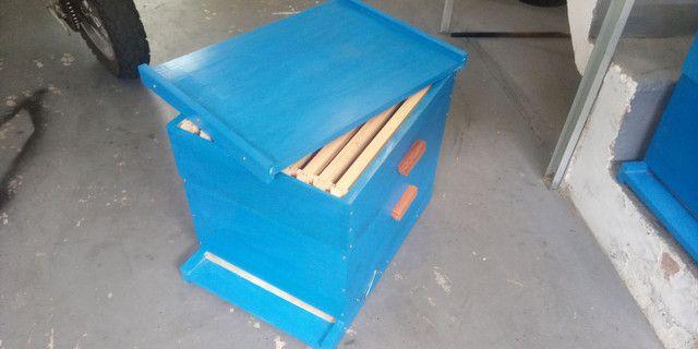 Caixa de abelha ninho e melgueira com quadros. Novos, sem uso. - Foto 5