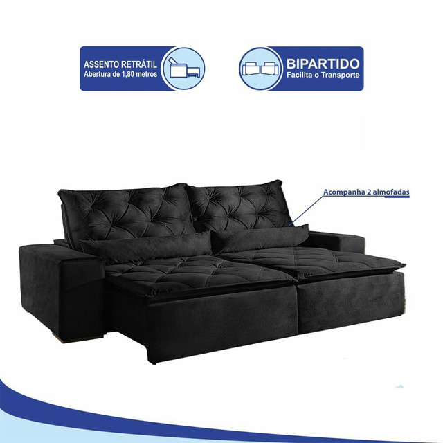 !!!Sofá retrátil e reclinável alto padrão Infiniti  - Foto 6