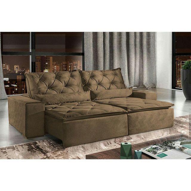 !!!Sofá retrátil e reclinável alto padrão Infiniti  - Foto 4