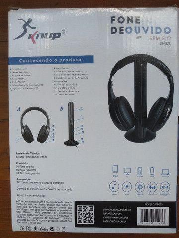 Fone de ouvido sem fio 5 em 1 - Knup Model KP-323 - Foto 4