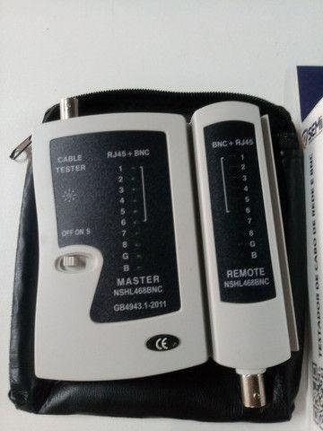 Testador de cabo de rede e BNC RJ45 - Foto 4