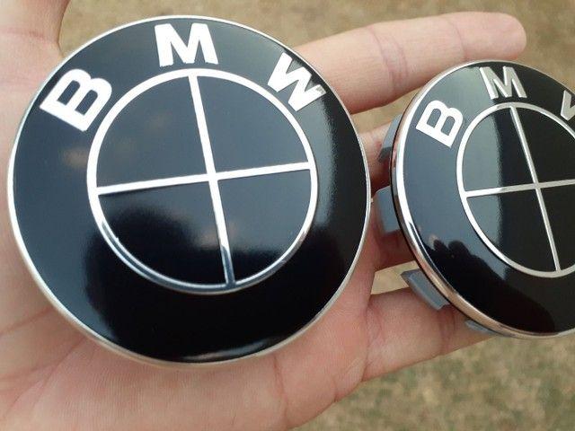 Emblema Tampa da roda BMW preto brilhante black piano  - Foto 3