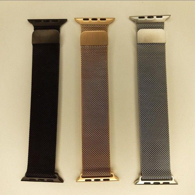 Kit Smart - Smartwatch IWO 26 + Pulseira Milanesa Extra + Película Protetora para Tela  - Foto 5