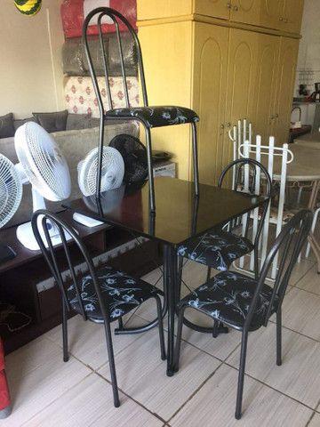 Oferta!Mesas de pedra e madeira com 04 ou 06 cadeiras  - Foto 3